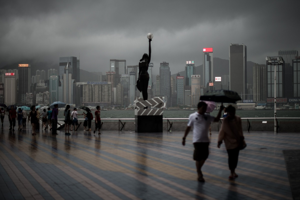 TOPSHOTS-HONG KONG-CHINA-WEATHER-TYPHOON