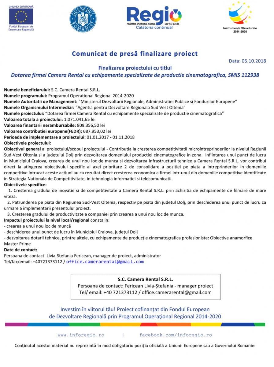 Comunicat-finalizare-proiect_Camera-Rental_SMIS-112938