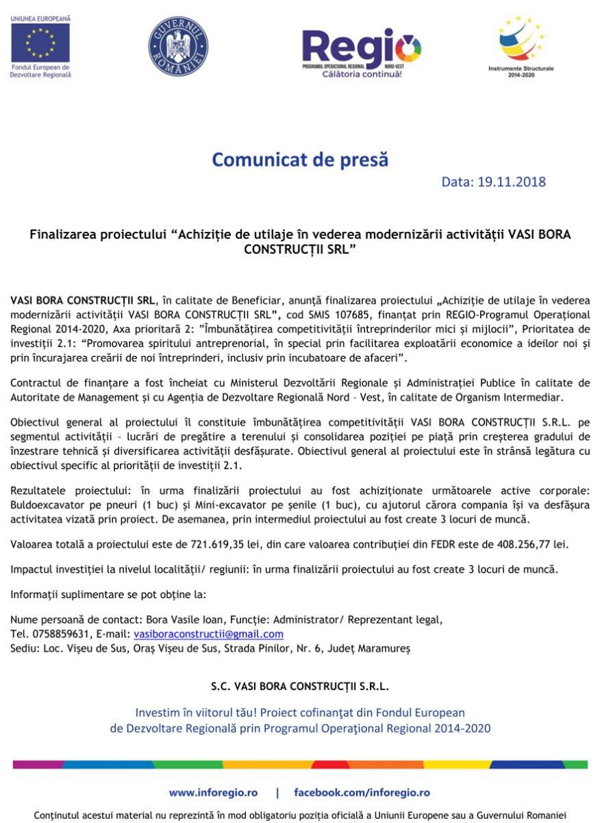comunicat fonduri europene