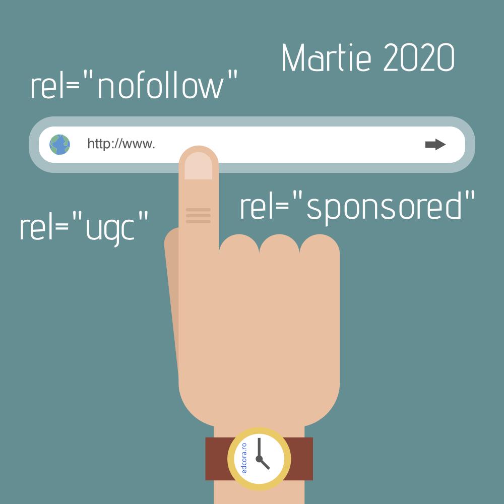 din martie 2020 se adauga noi atribute link-urilor rel ugc rel sponsored