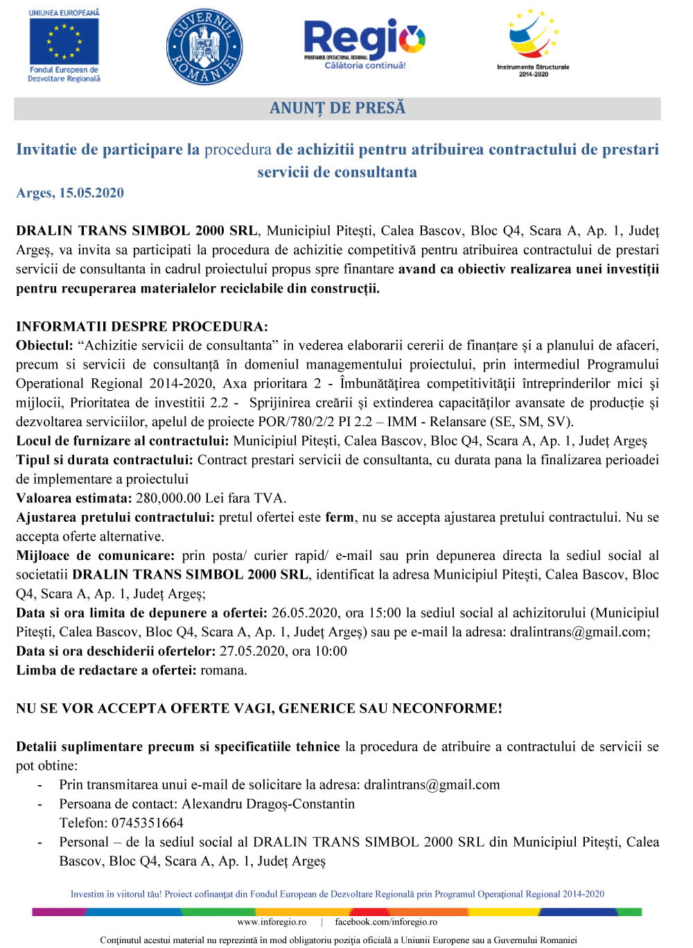 Anunt-Consultanta-DRALIN