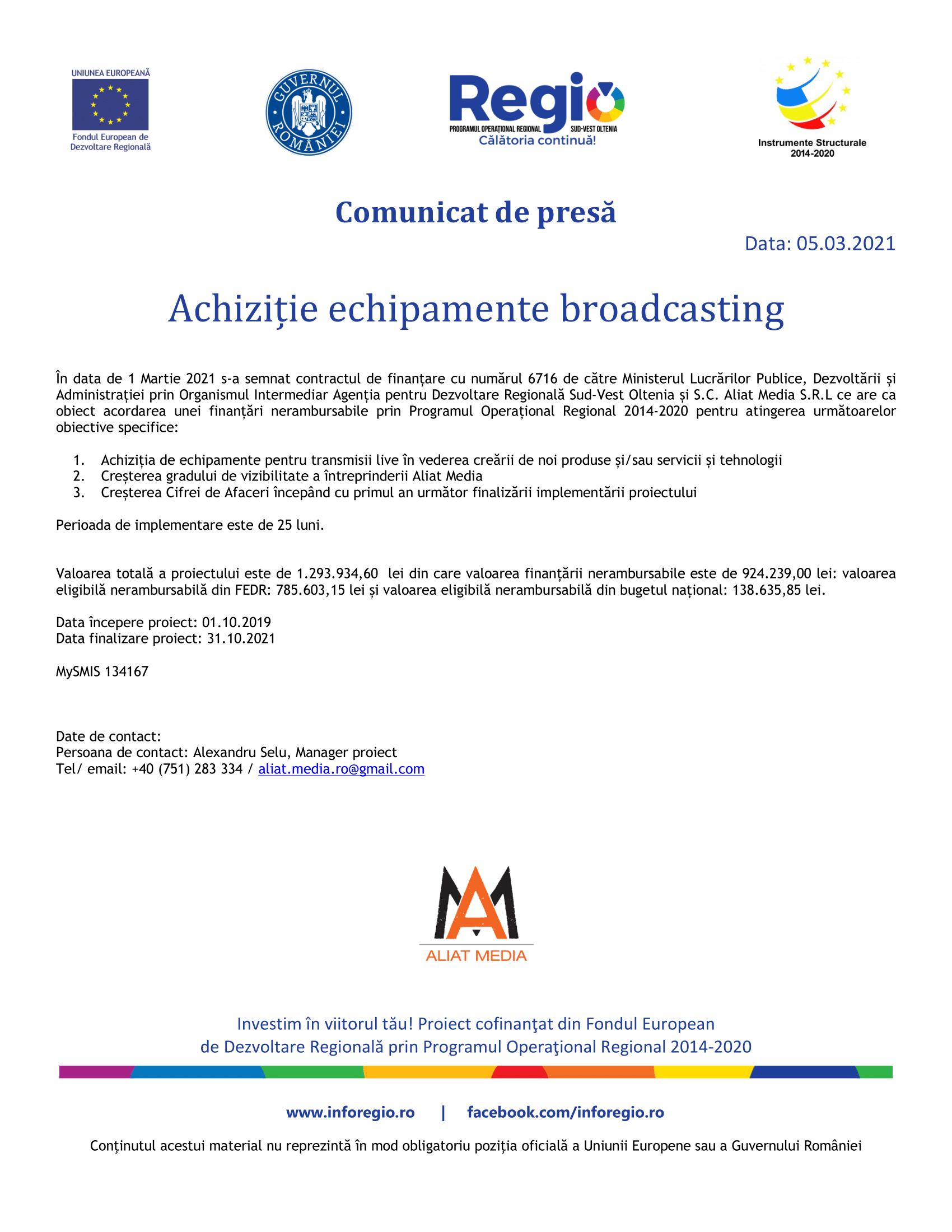 1. Comunicat de presa lansare proiect_Aliat Media SRL_SMIS 134167-1
