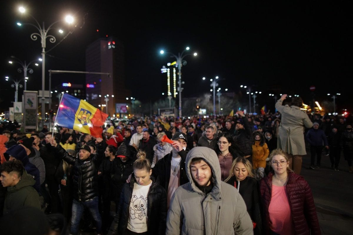 Protest Bucuresti Piata Victorei