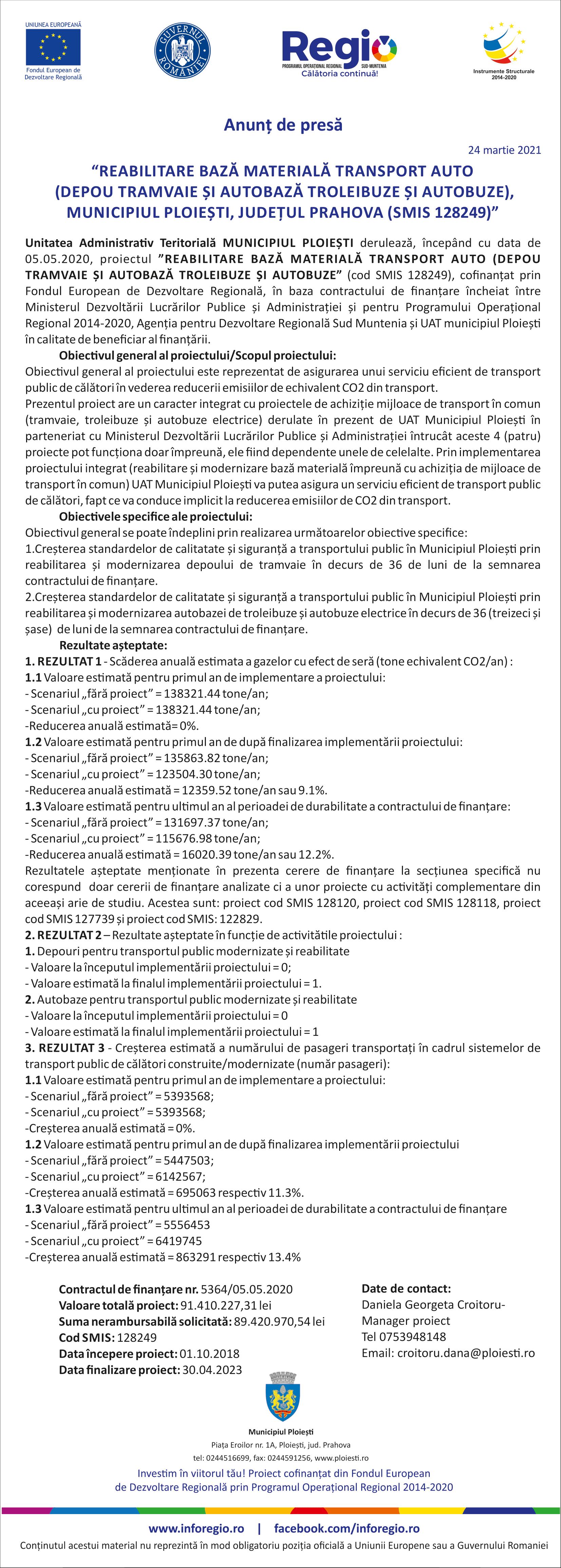 anunt de presa de deschidere Ploiesti online 24-1