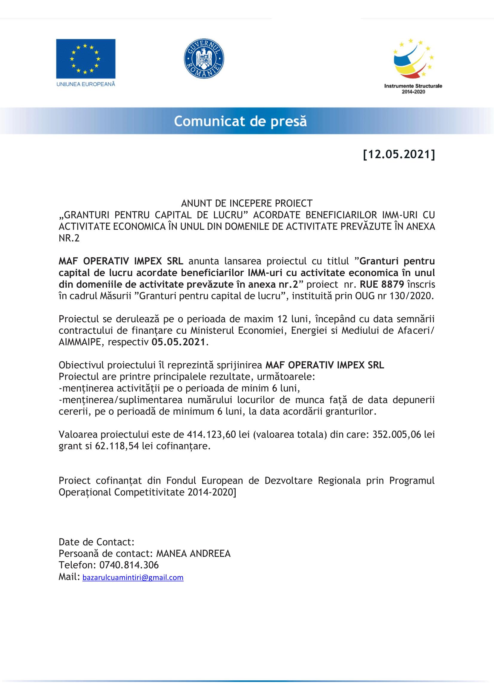 Comunicat Presa MAF OPERATIV IMPEX-1