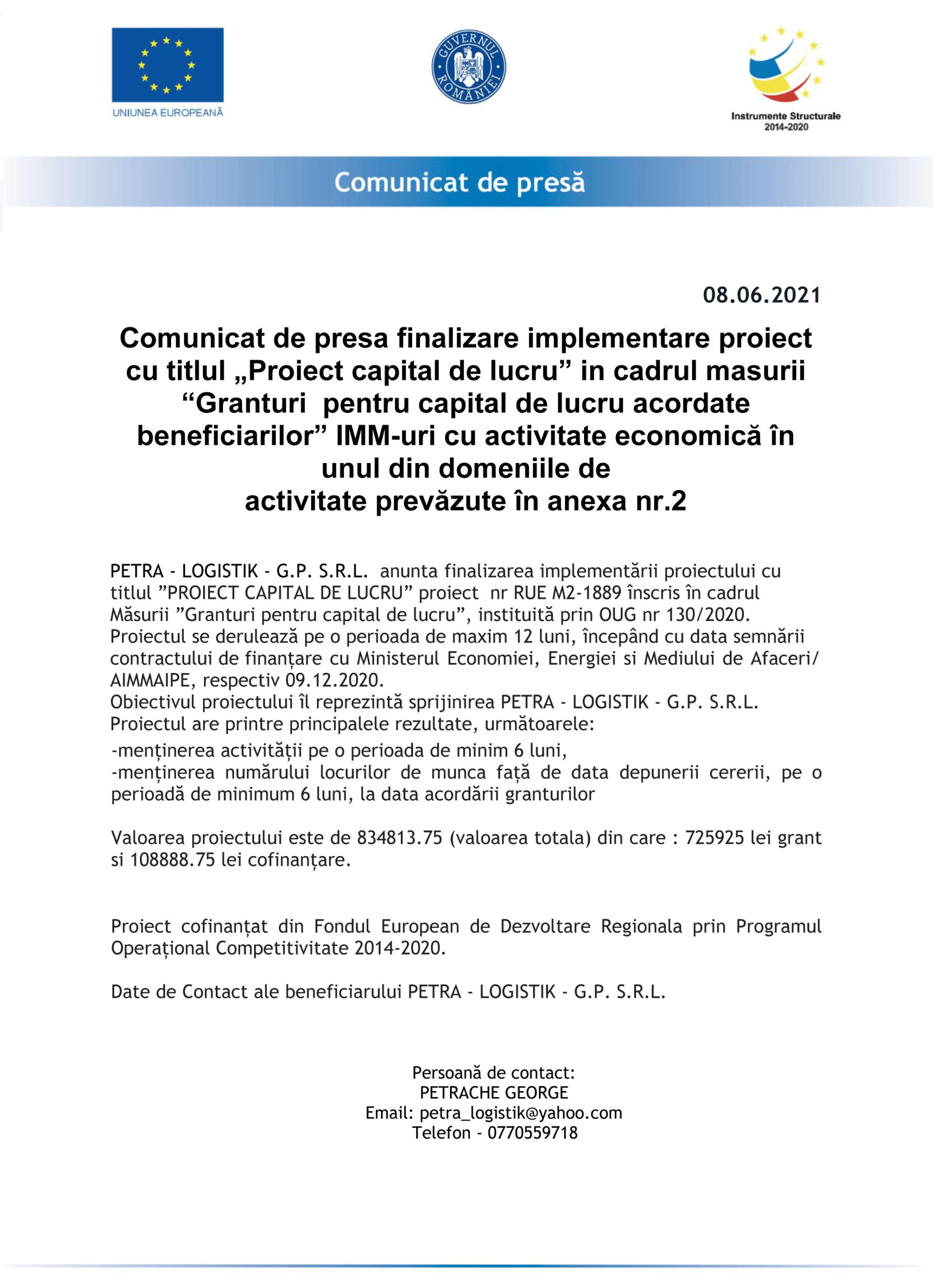 COMUNICAT-DE-PRESA-FINALIZARE-PROIECT-PETRA