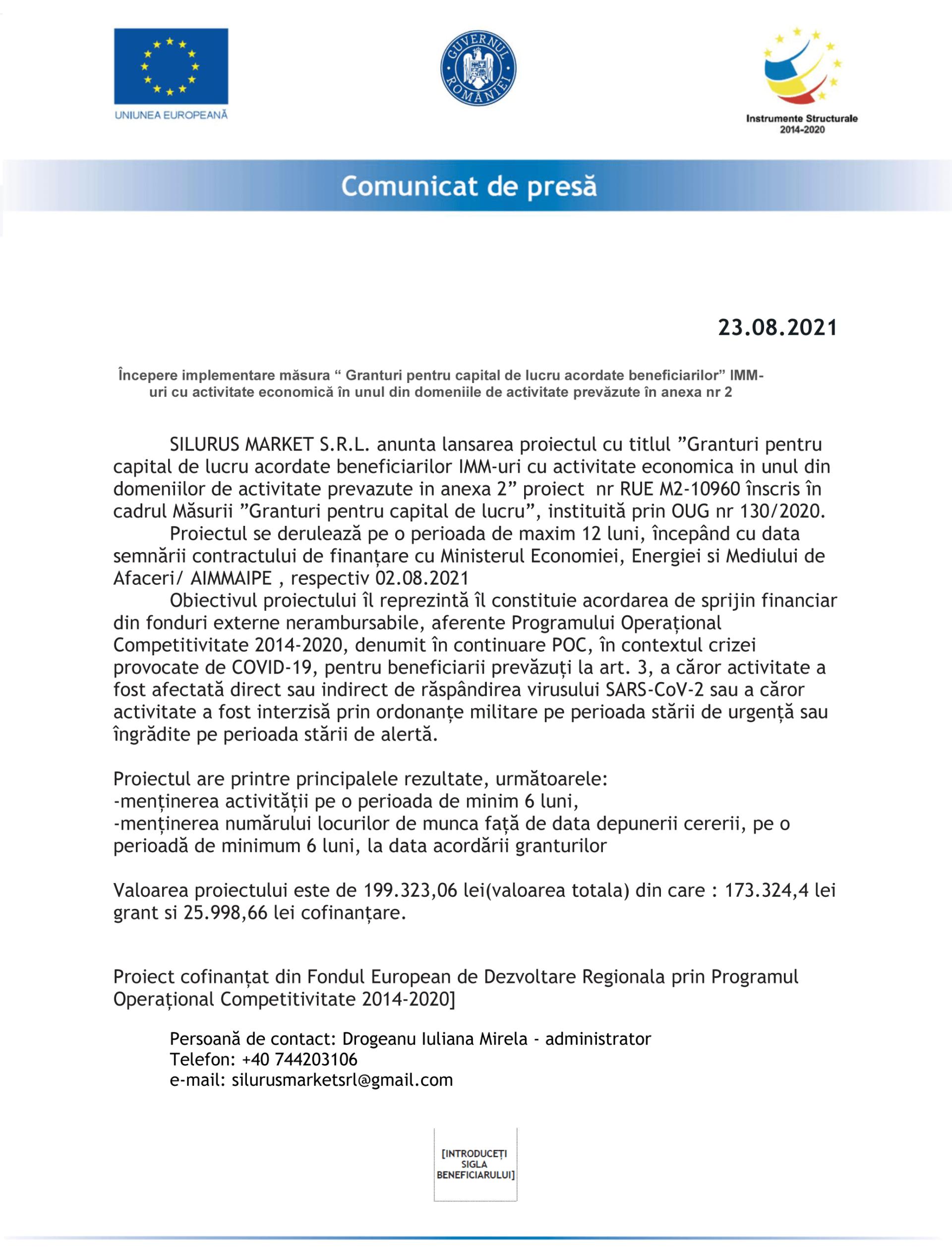 Comunicat_de_Presa_Silurus-Market