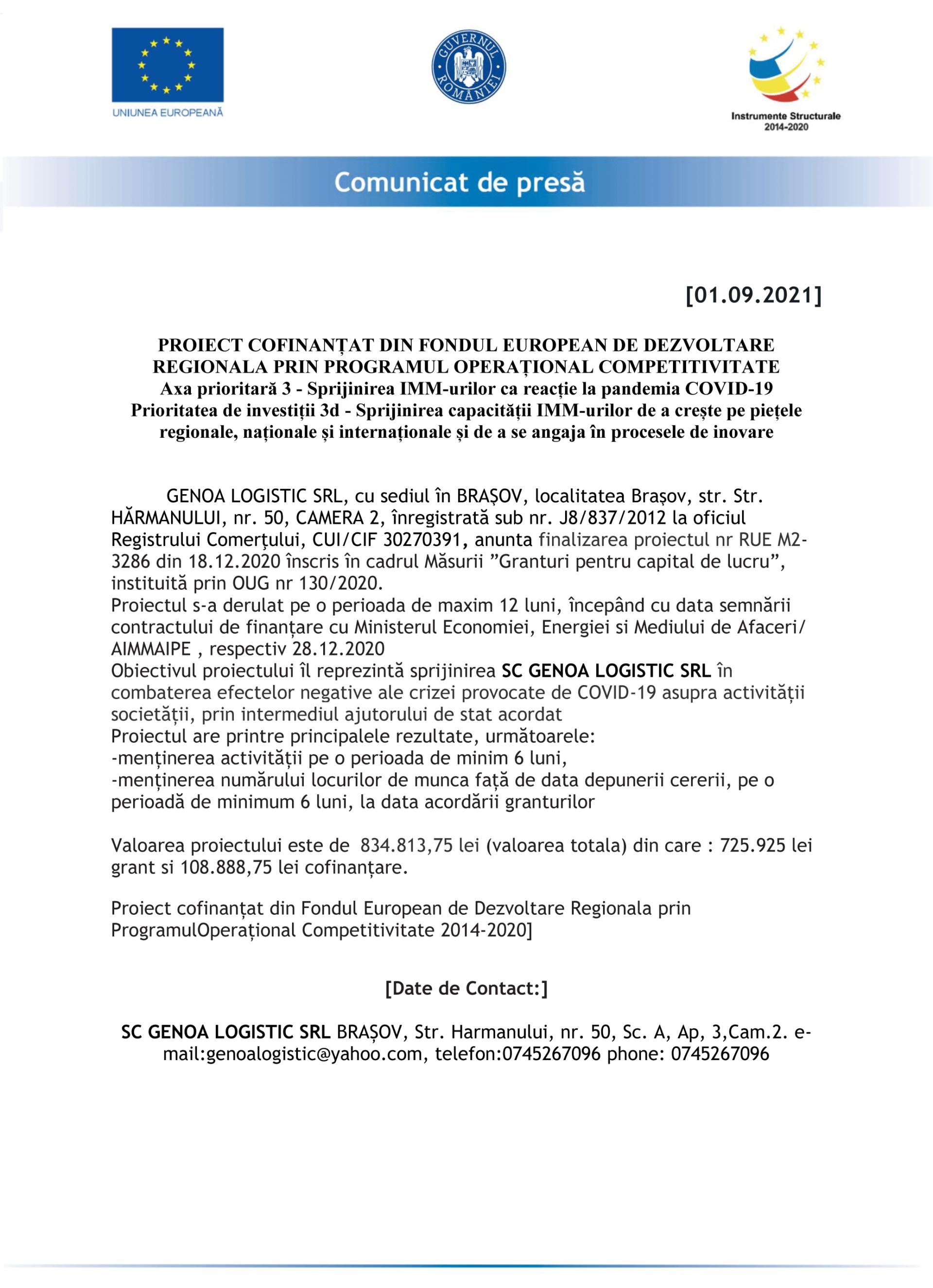 MODEL-Comunicat_de_Presa_GENOA-LOGISTIC-SRL